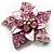 3D Enamel Crystal Flower Brooch (Pink) - view 4