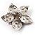 3D Enamel Crystal Flower Brooch (Pink) - view 6