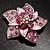 3D Enamel Crystal Flower Brooch (Pink) - view 12