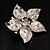 3D Enamel Crystal Flower Brooch (Pink) - view 11
