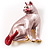 Pink Enamel Cat Brooch