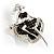 Silver Tone 'Dancing Lady' Crystal Brooch - view 2