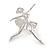 'Dancing Ballerina' Fashion Brooch