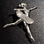 'Dancing Ballerina' Fashion Brooch - view 2