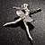 'Dancing Ballerina' Fashion Brooch - view 9