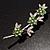 Rhodium Plated Emerald Green Diamante Flower Bouquet Brooch - view 4