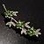 Rhodium Plated Emerald Green Diamante Flower Bouquet Brooch - view 2