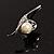 Pretty Calla Lily Simulated Pearl Brooch - view 8