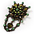 Vintage Statement Charm Brooch (Olive Green) - view 2