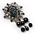 Antique Silver Black Charm Cameo Brooch - view 5