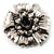 Vintage Dimensional Floral Brooch (Antique Silver Tone) - view 2