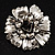 Vintage Dimensional Floral Brooch (Antique Silver Tone) - view 1
