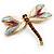 Exotic Enamel Dragonfly Brooch - view 3