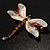 Exotic Enamel Dragonfly Brooch - view 5