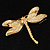 Exotic Enamel Dragonfly Brooch - view 6