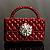 Stylish Crystal Bag Brooch (Burgundy)