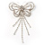 Striking Diamante Butterfly With Dangling Tail Brooch - view 4