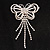 Striking Diamante Butterfly With Dangling Tail Brooch - view 10