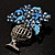 Blue Crystal Flower Basket Brooch - view 5