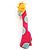 Tall Pink Plastic Giraffe Brooch