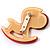 Rocking Horse Plastic Crystal Brooch (Sandy,Pale&Deep Pink) - view 4