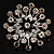 Sparkling Clear Crystal Corsage Brooch - view 6
