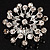 Sparkling Clear Crystal Corsage Brooch - view 5