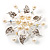 Bridal White Faux Pearl Floral Brooch - view 7