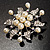 Bridal White Faux Pearl Floral Brooch - view 3