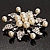 Bridal White Faux Pearl Floral Brooch - view 9
