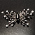 Art Deco Crystal Butterfly Brooch (Silver Tone) - view 2