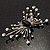 Art Deco Crystal Butterfly Brooch (Silver Tone) - view 7
