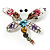 Crystal Dragonfly Brooch (Multicoulored)