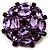 Large Dimensional Corsage Acrylic Brooch (Bronze&Purple)