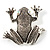 Marcasite Frog Brooch (Antique Silver Tone) - view 1