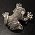 Marcasite Frog Brooch (Antique Silver Tone) - view 3