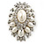 Oversized Vintage Corsage Faux Pearl Brooch (Light Cream) - view 9