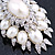 Oversized Vintage Corsage Faux Pearl Brooch (Light Cream) - view 12
