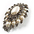 Oversized Vintage Corsage Faux Pearl Brooch (Light Cream) - view 3