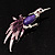 Purple Bird Brooch