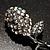 Vintage Crystal Rose Brooch (Black Tone) - view 6