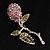 Vintage Crystal Rose Brooch (SilverTone)