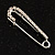 Small Crystal Scarf Pin Brooch (Silver Tone) - 40mm Width - view 5