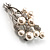 Faux Pearl Floral Brooch (Silver & White) - view 7
