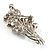 Faux Pearl Floral Brooch (Silver & White) - view 3