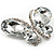 Statement Oversized Clear Crystal Butterfly Brooch (Silver Tone) - view 5