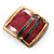 'Red Square' Ethnic Brooch - view 5
