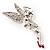 Swarovski Crystal Fairy Brooch (Silver Tone) - view 7