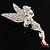 Swarovski Crystal Fairy Brooch (Silver Tone) - view 4
