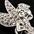 Swarovski Crystal Fairy Brooch (Silver Tone) - view 2